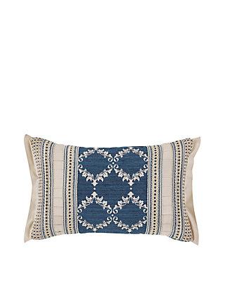 """J Queen New York Ventura Decorative Square Pillow 18/""""x18/"""" Black Multi"""