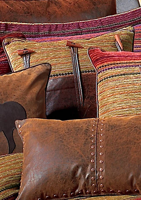 Plateau Multicolored Toggle Horn Decorative Pillow 20-in. x 20-in.