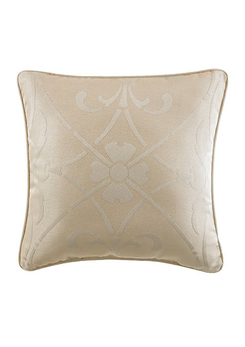 Grace Ivory Decorative Square Pillow 18-in. x 18-in.