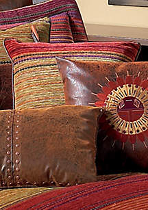 Plateau Multicolored Square Horizontal Striped Decorative Pillow 18-in. x 18-in.