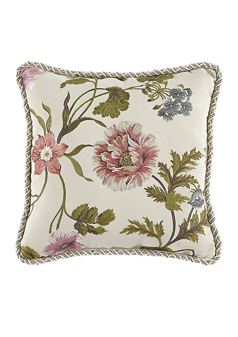 Croscill Daphne Reversible Square Decorative Pillow
