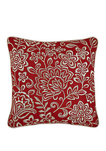 Croscill Adriel Embroidered Floral Throw Pillow