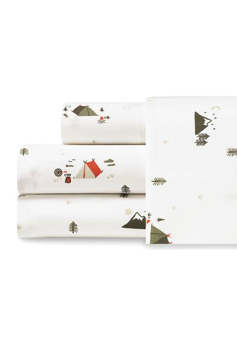 Eddie Bauer Cascade Camping Cotton Percale Sheet Set
