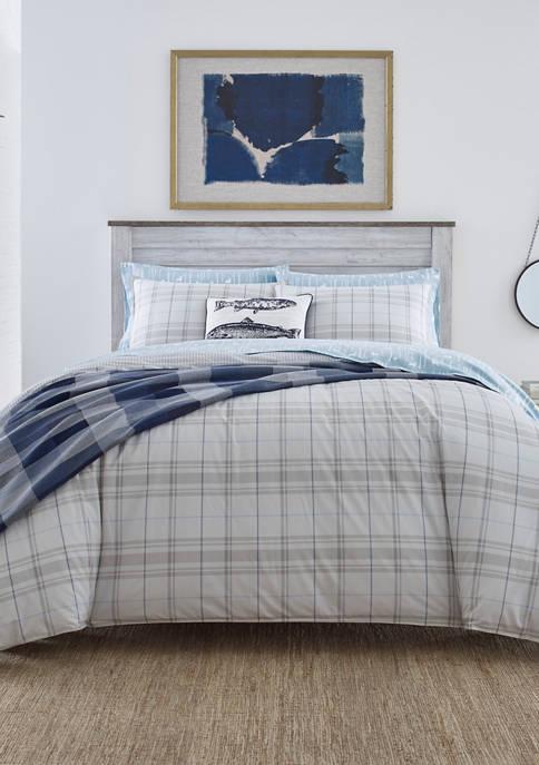 Eddie Bauer Grays Harbor Plaid Cotton Comforter Sham