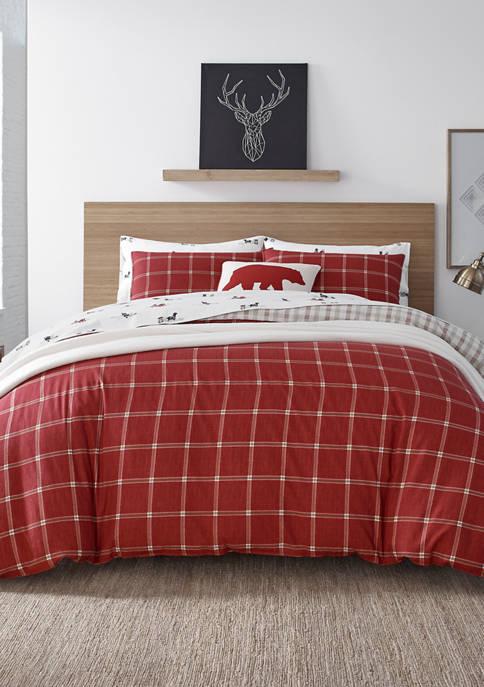 Eddie Bauer Corbett Plaid Cotton Comforter Sham Set