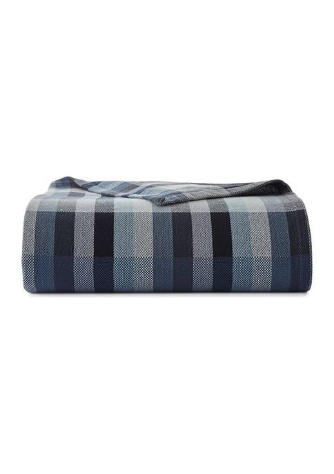 Eddie Bauer Windsor Stripe Cotton Blanket