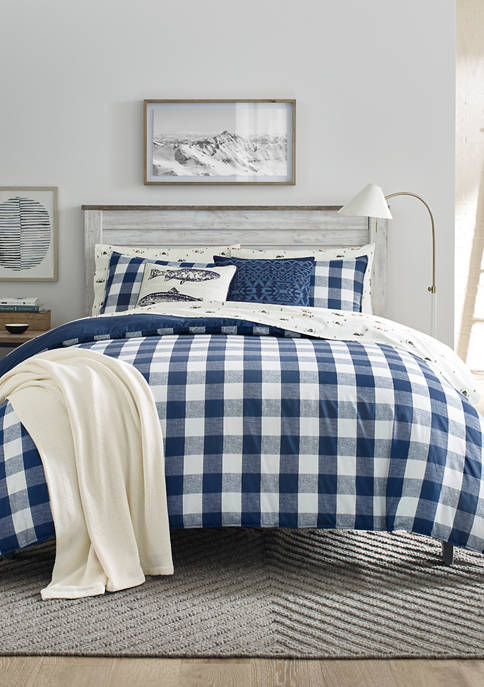 Eddie Bauer Lakehouse Plaid Cotton Duvet Cover Set