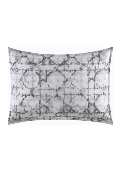 Layered Geometric Cotton Percale Sham