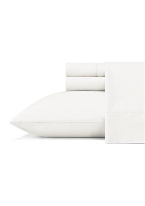 Ellen DeGeneres Solid Cotton Percale Sheet Set