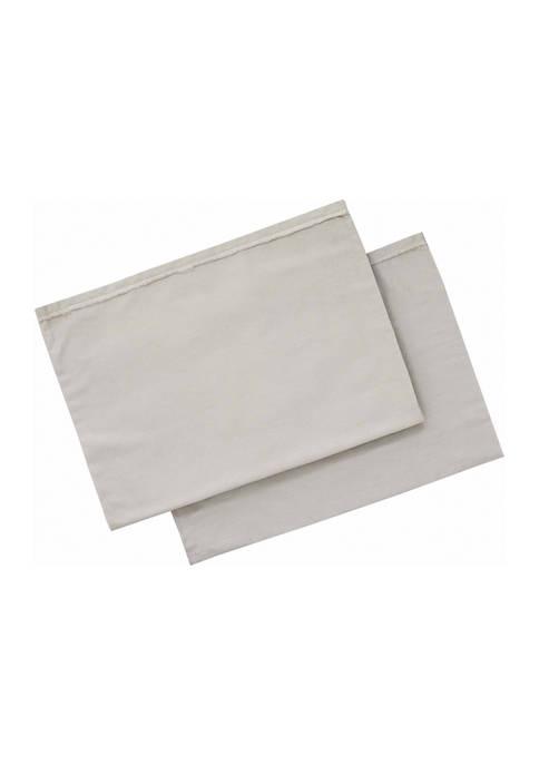 Ellen DeGeneres Solid Cotton Pillowcase Set