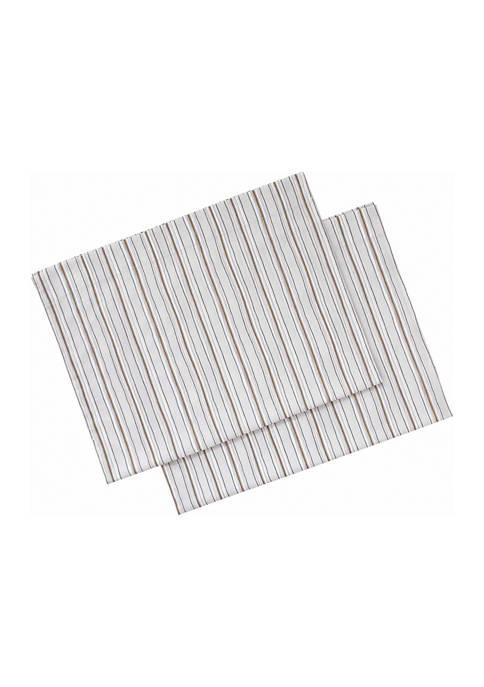Ellen DeGeneres Sketched Stripe Cotton Pillowcase Set