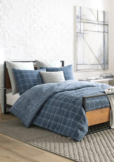 Kenneth Cole New York Holden Grid Cotton Comforter