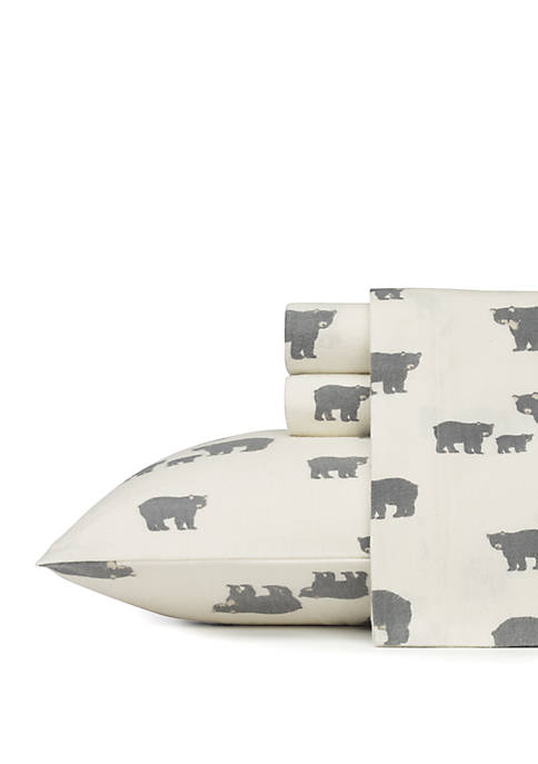 Eddie Bauer Bear Family Flannel Sheet Set