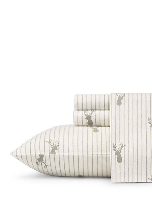 Deer Lodge Flannel Sheet Set