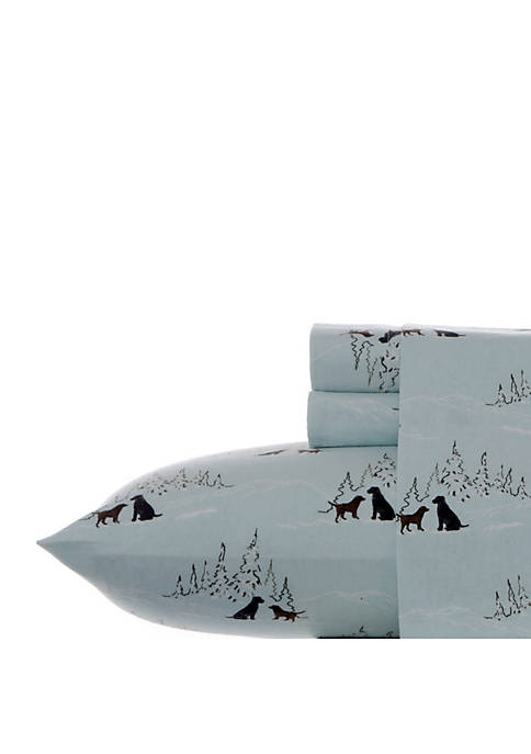 Eddie Bauer Dog Friends Flannel Sheet Set Twin