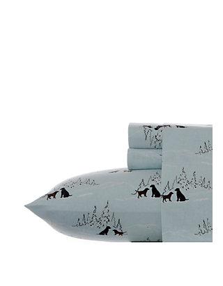 Eddie Bauer Dog Friends Flannel Sheet Set Belk