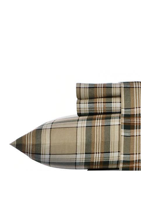 Eddie Bauer Edgewood Plaid Flannel Sheet Set Twin
