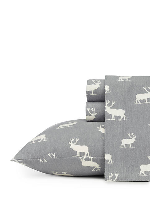 Eddie Bauer Elk Grove Flannel Sheet Set-Twin