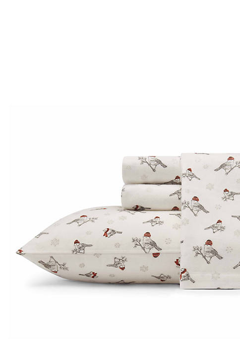 Eddie Bauer Frosty Finch Flannel Sheet Set, King