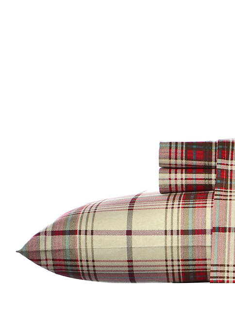 Eddie Bauer Montlake Plaid Flannel Sheet Set