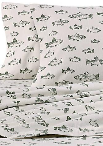 Eddie Bauer School Of Fish Flannel Sheet Set Belk