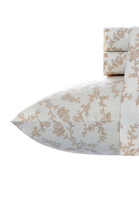 Laura Ashley Victoria Flannel Sheet Set Queen