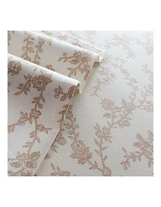Laura Ashley Victoria Flannel Sheet Set Queen Belk