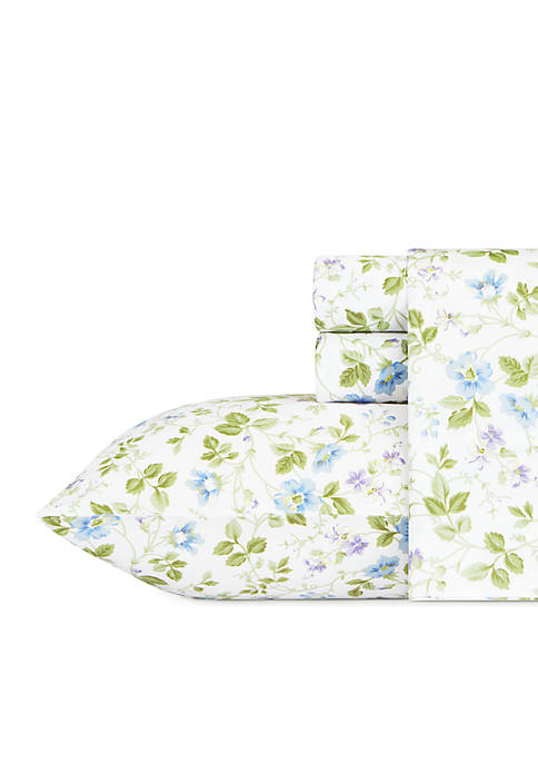 Laura Ashley Spring Bloom Flannel Sheet Set King