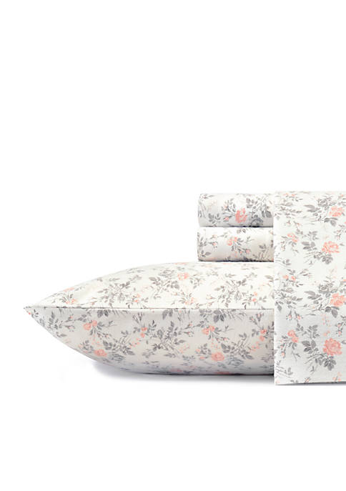 Laura Ashley Rosalie Flannel Sheet Set Full