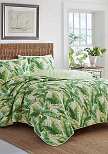 Tommy Bahama Anguilla Botanical Quilt Set-Twin