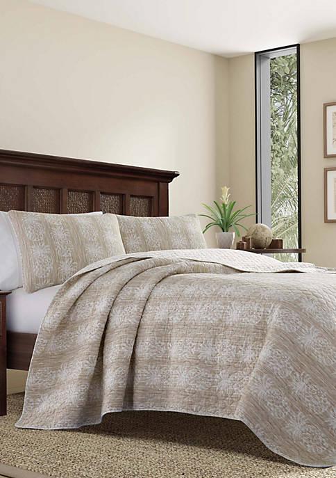 Tommy Bahama® Pineapple Stripe Quilt Set