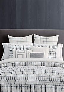 Vera Wang Shibori Grid Comforter Set Queen