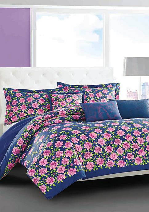 Betsey Johnson Rose Garden Bonus Reversible Comforter Set