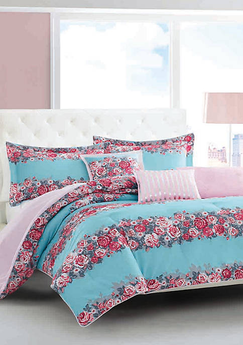Banded Floral Bedding Collection