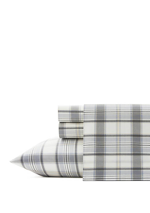Eddie Bauer Chinook Plaid Cotton Sheet Sets