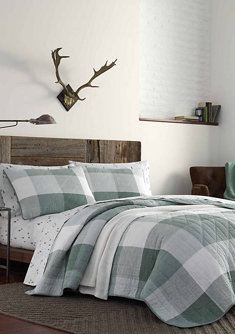Eddie Bauer Boulder Plaid Cotton Quilt Set