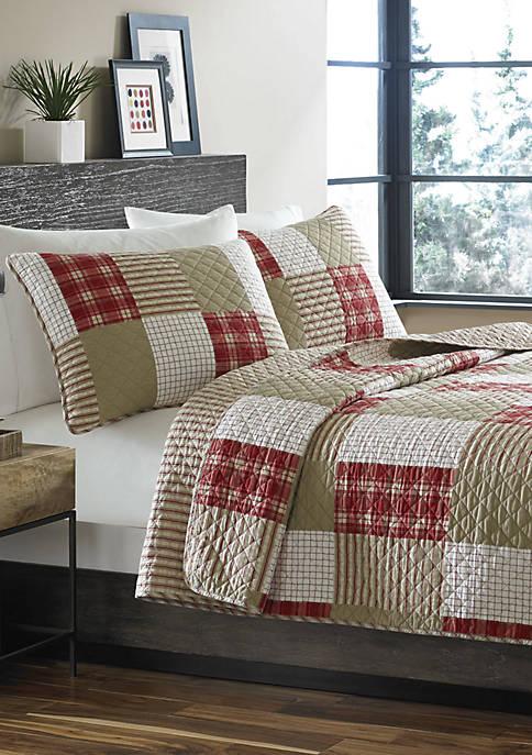 Eddie Bauer Camano Island Plaid Cotton Quilt Set