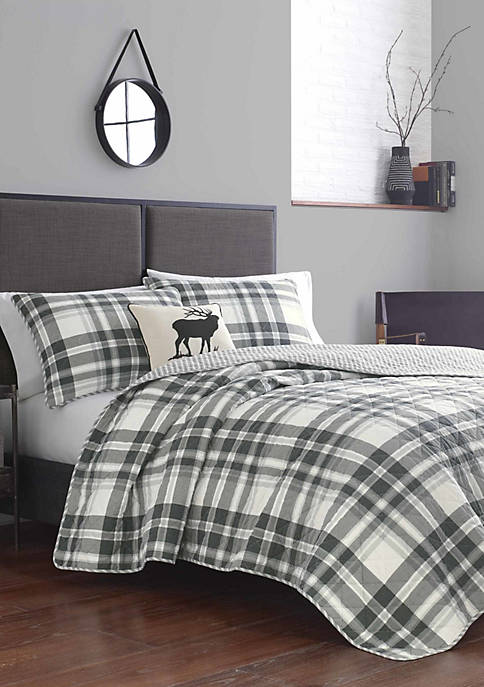 Eddie Bauer Coal Creek Plaid Cotton Quilt Sets