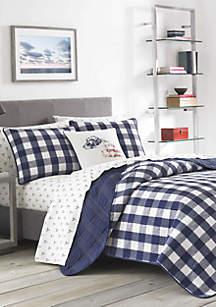 Eddie Bauer Lakehouse Plaid Cotton Quilt Sets