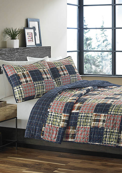 Eddie Bauer Madrona Plaid Cotton Quilt Set