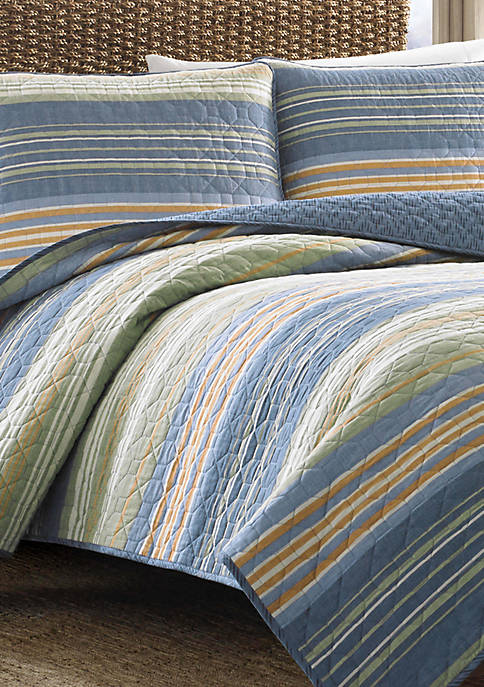Yakima Valley Stripe Cotton Quilt Set