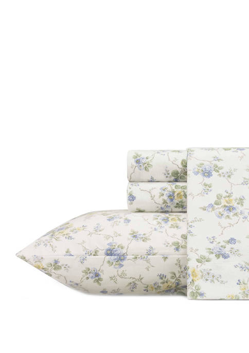 Laura Ashley Crestwood Flannel Sheet Set