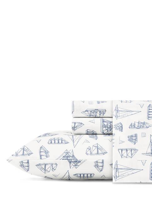 Nautica Whitewood Cotton Sheet Set