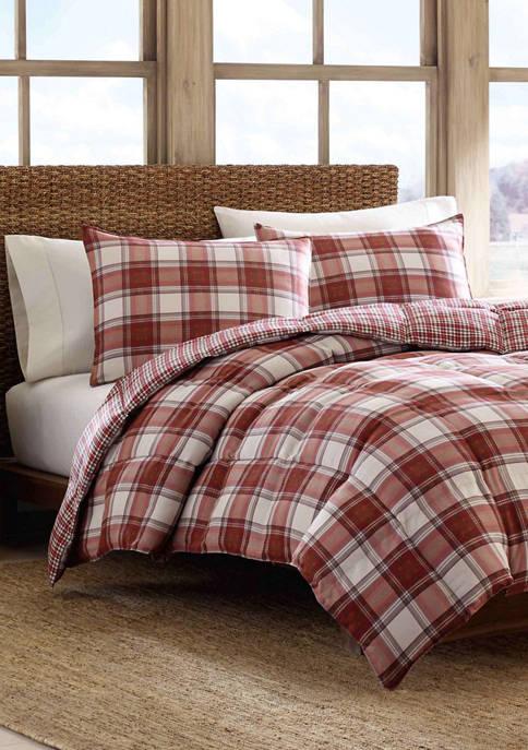 Edgewood Plaid Comforter Sham Set