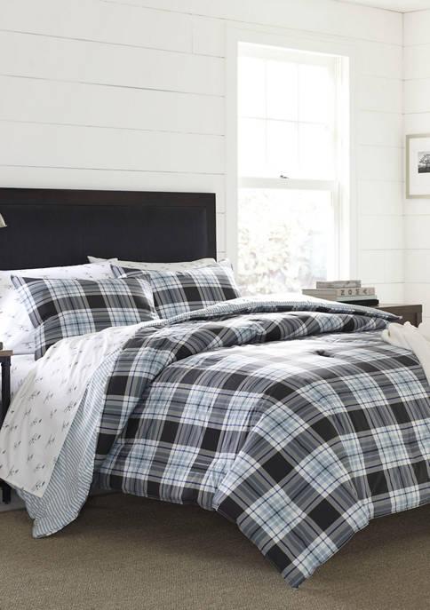 Eddie Bauer Lewis Plaid Comforter Sham Set