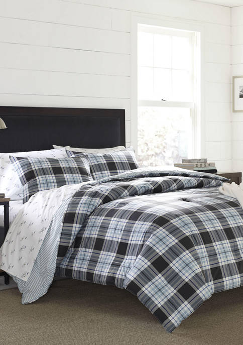 Eddie Bauer Lewis Plaid Duvet Cover Set