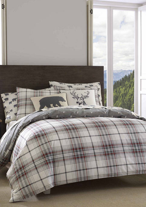 Eddie Bauer Alder Plaid Duvet Cover Set
