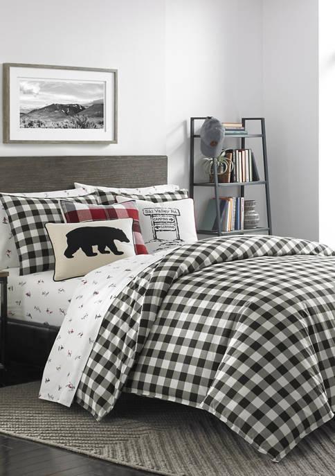 Mountain Plaid Comforter Sham Set