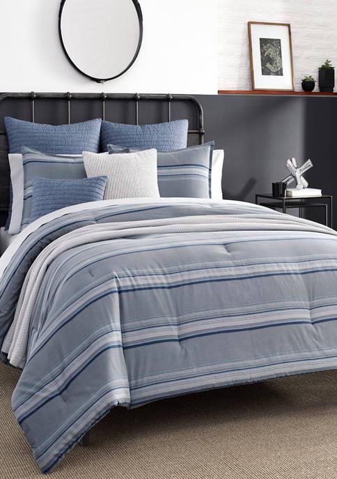 Nautica Eastbury Gray Cotton Comforter Sham Set