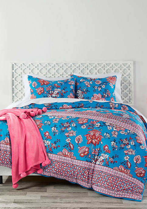 Azalea Skye 2 Piece Wild Lotus Blue Comforter